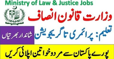 Ministry of Law and Justice Jobs logo